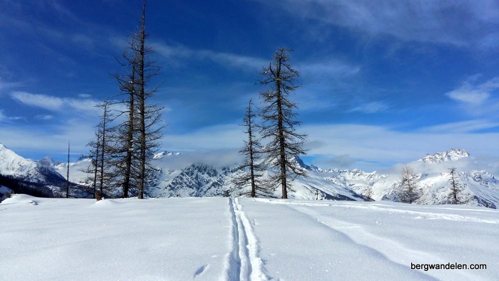 Sneeuwschoenwandelen oud en nieuw