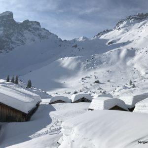 Sneeuwwandeltrektocht in het Rätikonmassief